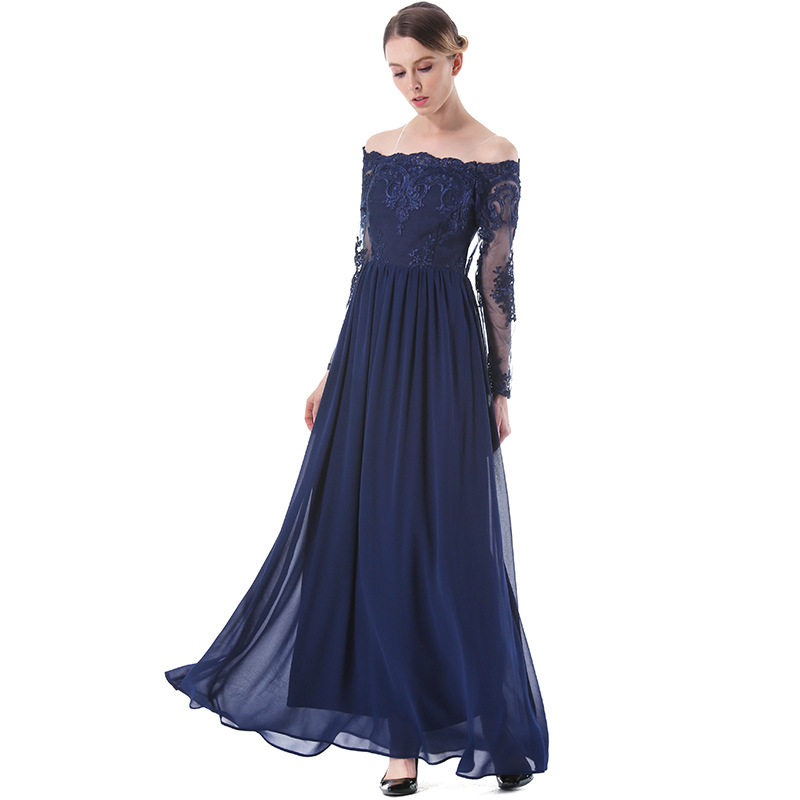 2017 Summer Fashion Off Shoulder Long Skirt Women Dress Party Dress ...