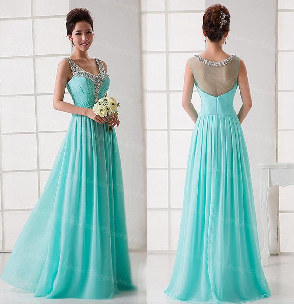 Prom Dress,Light Blue Prom Dress, Chiffon Prom Dress, Tulle Prom ...