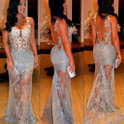 Prom Dresses 2016, Sexy Prom Dress, Lace Prom Dresses, Backless Prom Dresses