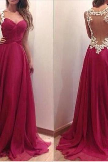 Charming Burgundy Sweetheart Floor Length Prom Dress with Applique Blackless Detalis, Handmade Prom Dresses 2016, Prom Dresses, Evening Dresses 2016