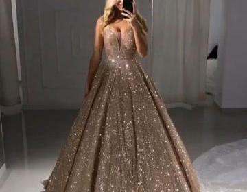 sexy sweetheart neck Sequin Straps Sleeveless Prom Dresses Party Dresses 2019